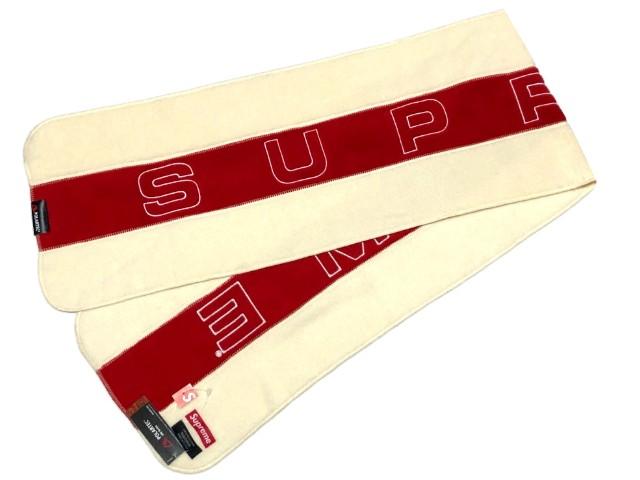 SUPREME シュプリーム ★ 18AW 新品 ナチュラル Polartec Scarf マフラー フリース ポーラテック スカーフ Natural