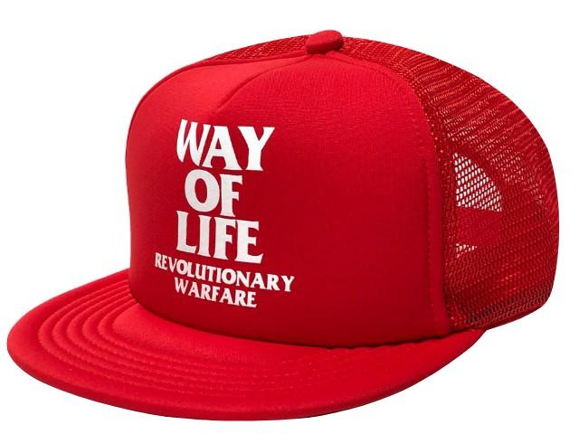 RATS ラッツ 19AW 新品 赤 WAY OF LIFE MESH CAP ロゴ メッシュキャップ RED さんタク 同型同色