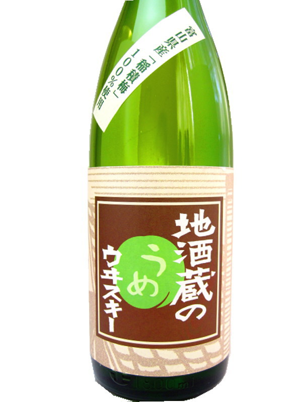1,800 ml of plum whiskey 22 degrees of the Toyama Wakatsuru Syuzo local brew storehouse