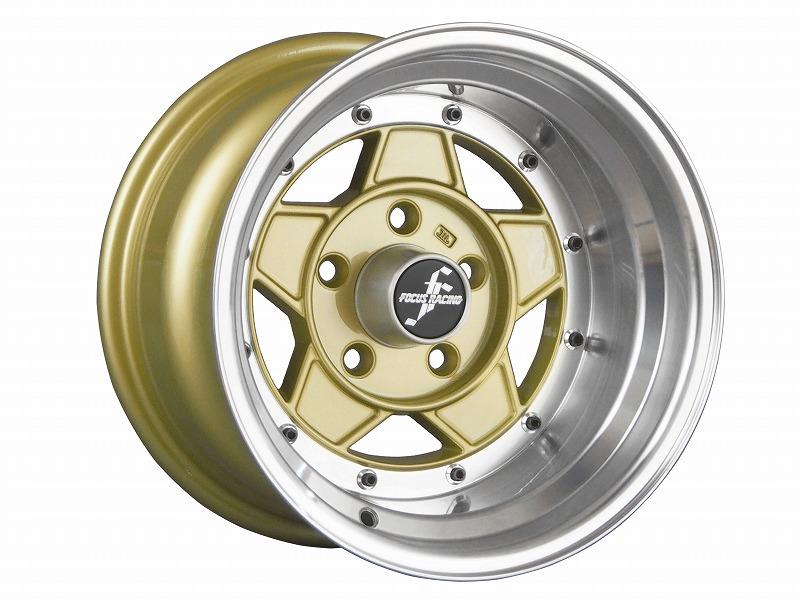 復刻版 フォーカスレーシング ファイブ 14x9.0J 114.3-5H ゴールド 2本セット【新品】44014