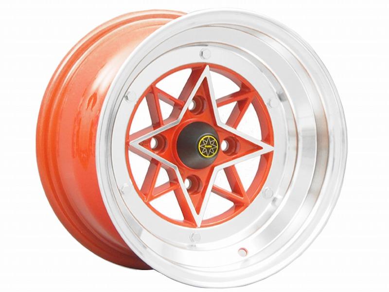 STAR SHARK スターシャーク 復刻版ホイール 14x8.0J -13 114.3-4H レッド 2本セット【新品】44028