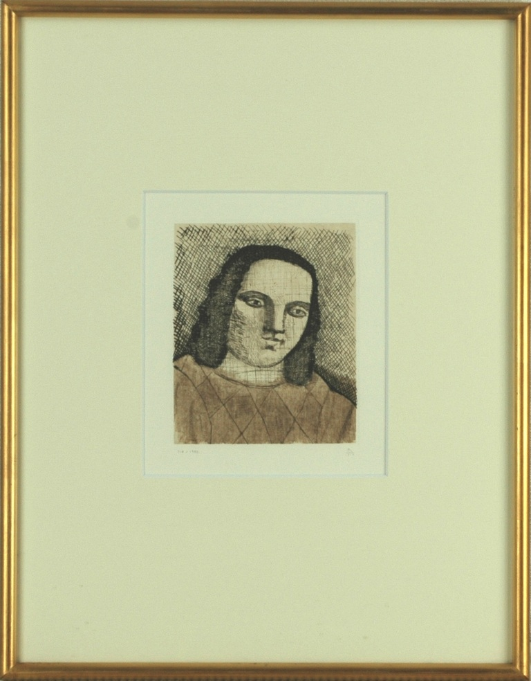 有元利夫 「1982個展ポスター」 銅版画