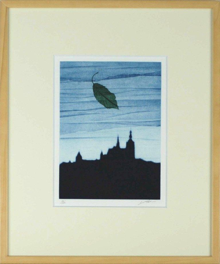 二見彰一 「プラハの風」 銅版画