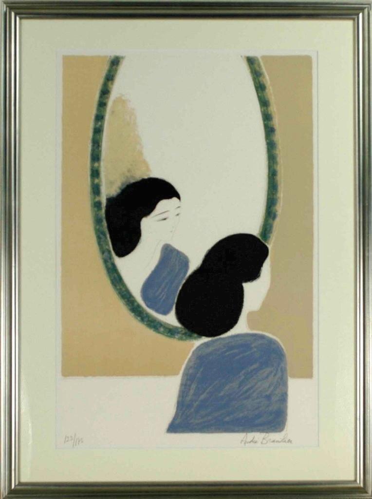 アンドレ・ブラジリエ 「アイルランドの鏡」 リトグラフ