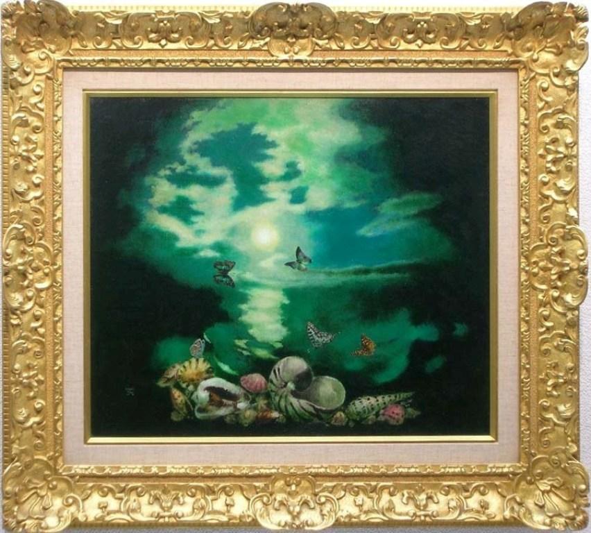 オリジナル 鷹山宇一 「はまべの歌」 油彩12号, シルクの部屋:6182cc1e --- ltcpackage.online
