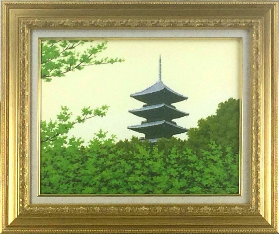朝隈敏彦 「仁和寺」 油彩6号
