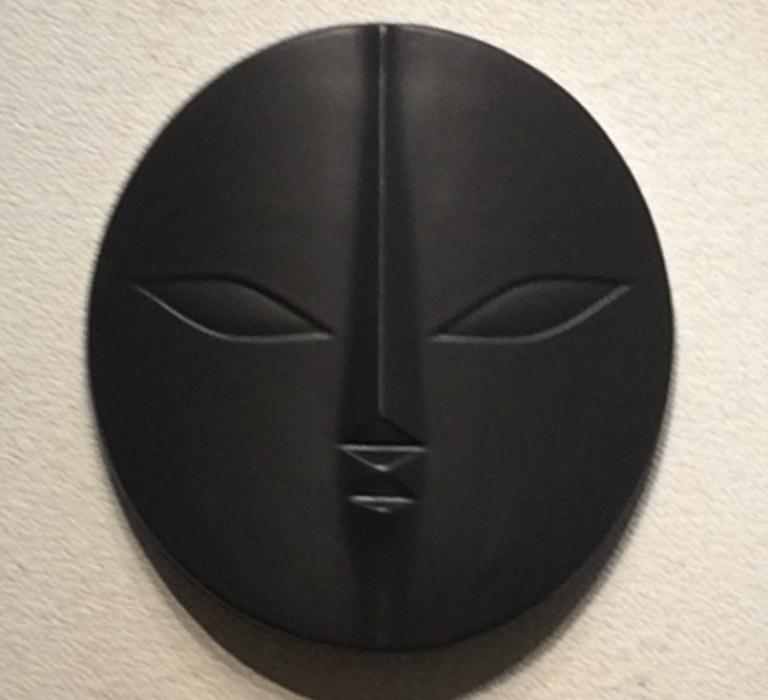 岡本太郎 「太陽の顔」 陶器製レリーフ