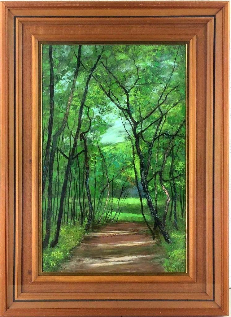 北村 巌 「夏の神代植物園」 油彩M10号