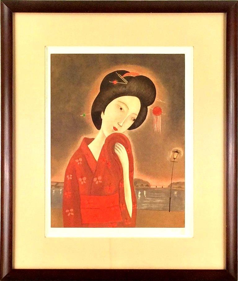 斎藤真一 初売り 向島の女 店 銅版画