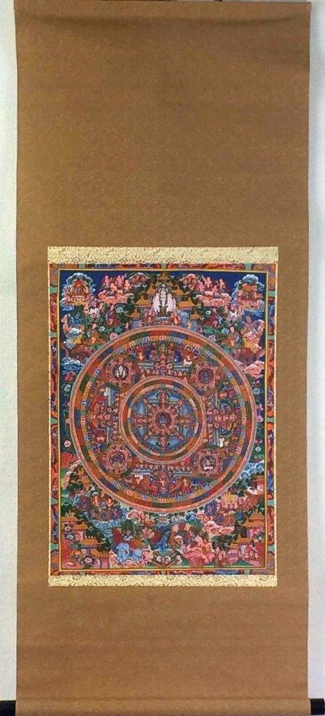 「チベット曼陀羅図」 掛軸
