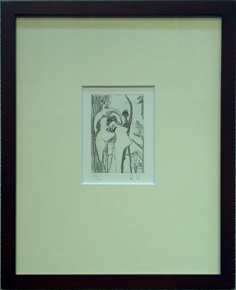瑛 九 「プロフィル」 銅版画