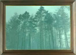 水口裕務 「霧の林」 油彩20号