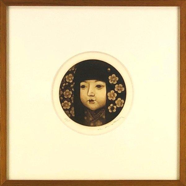 佐藤暢男 「梅の花」 銅版画