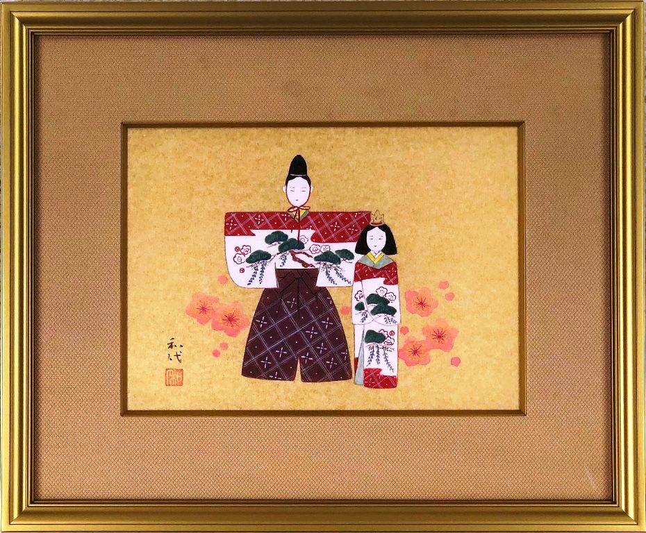 松下和代 「立雛」 日本画4号