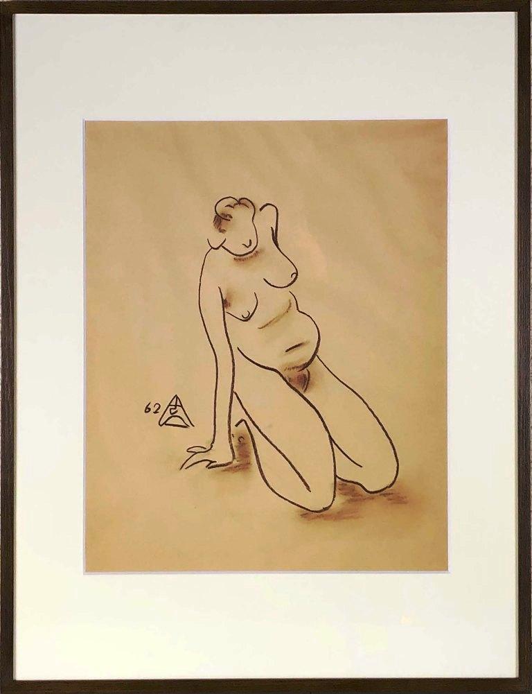 木内 克 「裸婦」 デッサン