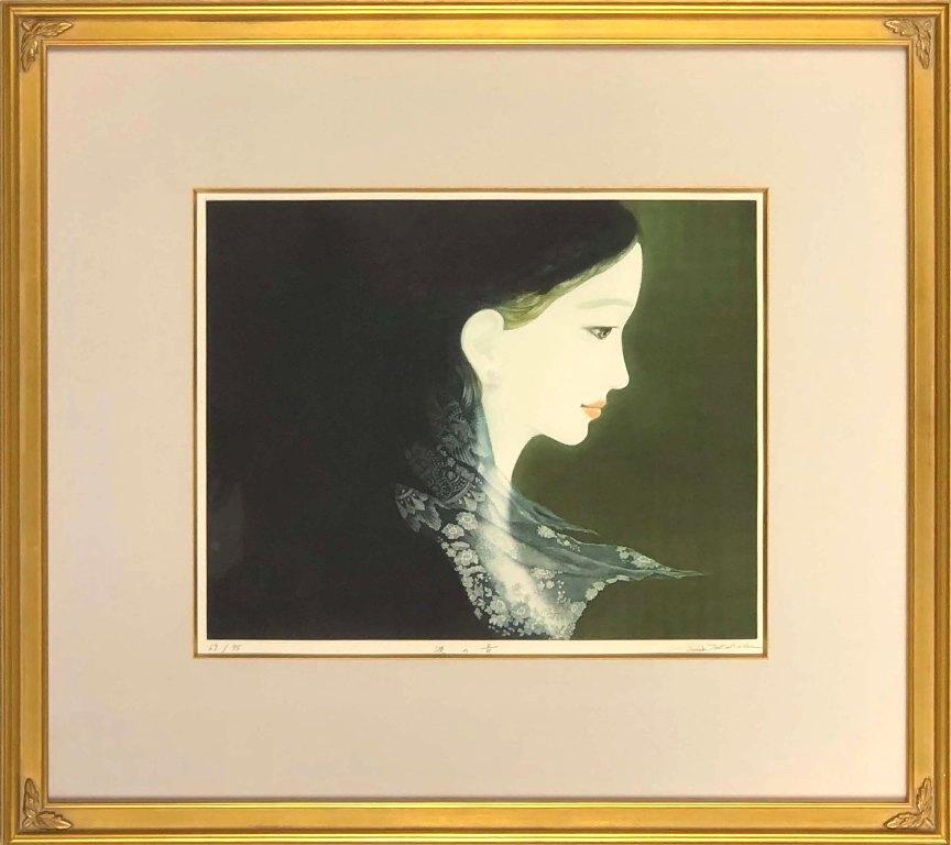 高橋 潮 「浪の音」 銅版画