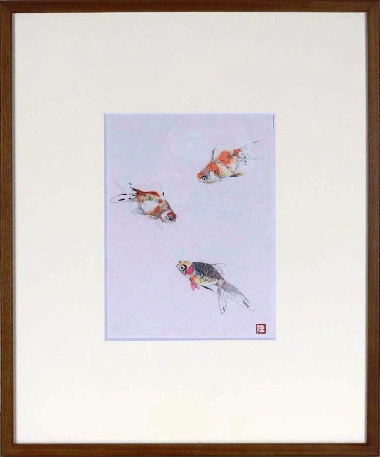 上村松篁 「金魚」 木版