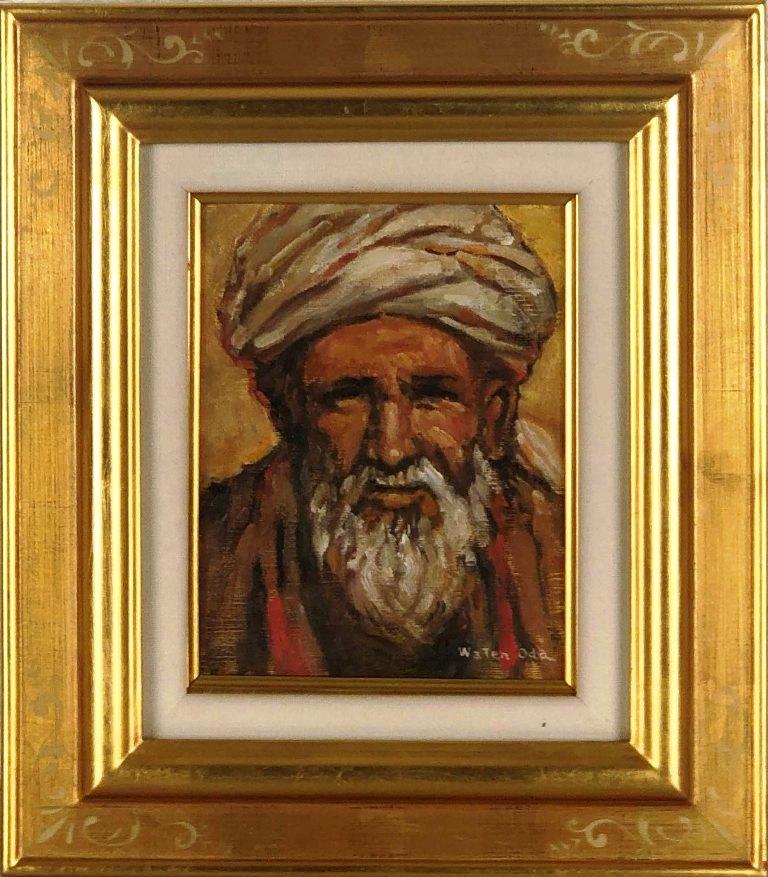小田和典 「アフガニスタンの老人」 油彩0号