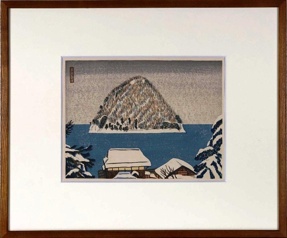 下澤木鉢郎 湯の島風景 商品 木版 セールSALE%OFF