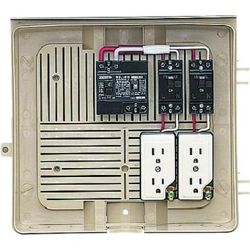 【法人限定】2Y-2C (2Y2C) 未来工業 屋外電力用仮設ボックス 漏電しゃ断器・分岐ブレーカ・コンセント内蔵
