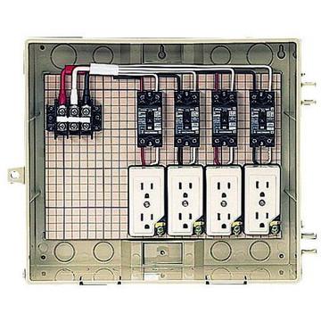 【法人限定】13-4CTB (134CTB) 未来工業 屋外電力用仮設ボックス 漏電しゃ断器・分岐ブレーカ・コンセント内蔵