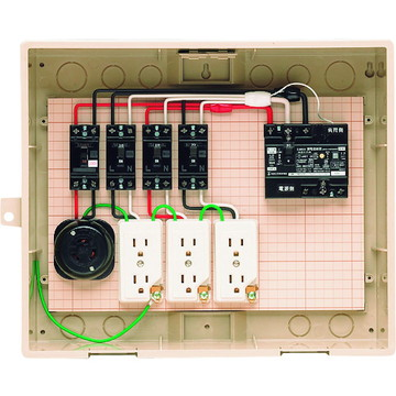 【法人限定】14-31HC (1431HC) 未来工業 屋外電力用仮設ボックス 漏電しゃ断器・分岐ブレーカ・コンセント内蔵