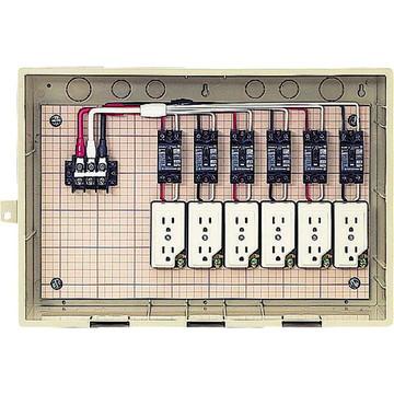 【法人限定】15-6CTB (156CTB) 未来工業 屋外電力用仮設ボックス 漏電しゃ断器・分岐ブレーカ・コンセント内蔵