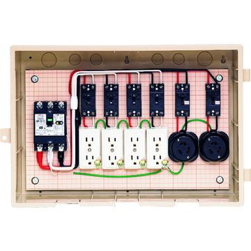 【法人限定】15-42HC5 (1542HC5) 未来工業 屋外電力用仮設ボックス 漏電しゃ断器・分岐ブレーカ・コンセント内蔵