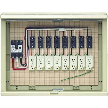 【法人限定】17A-8C6 (17A8C6) 未来工業 屋外電力用仮設ボックス 漏電しゃ断器・分岐ブレーカ・コンセント内蔵