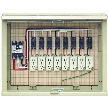 【法人限定】17A-8C7 (17A8C7) 未来工業 屋外電力用仮設ボックス 漏電しゃ断器・分岐ブレーカ・コンセント内蔵