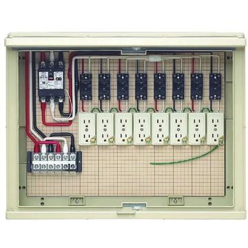 【法人限定】17A-8C7TW (17A8C7TW) 未来工業 屋外電力用仮設ボックス 漏電しゃ断器・分岐ブレーカ・コンセント内蔵