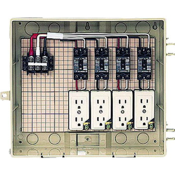 【法人限定】C13-4CTBT (C134CTBT) 未来工業 屋外電力用仮設ボックス 漏電しゃ断器・分岐ブレーカ・コンセント内蔵