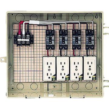 【法人限定】C13-4CTB (C134CTB) 未来工業 屋外電力用仮設ボックス 漏電しゃ断器・分岐ブレーカ・コンセント内蔵
