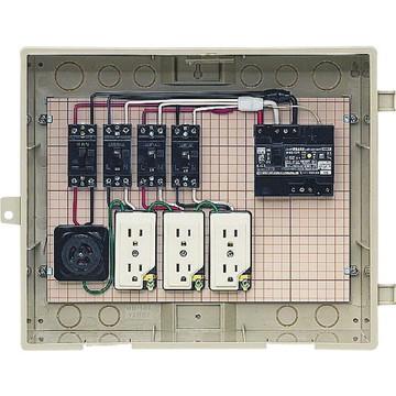 【法人限定】C14-31HC (C1431HC) 未来工業 屋外電力用仮設ボックス 漏電しゃ断器・分岐ブレーカ・コンセント内蔵
