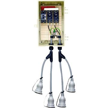 【法人限定】2A-2BW (2A2BW) 未来工業 屋外電力用仮設ボックス 漏電しゃ断器・分岐ブレーカ・コンセント内蔵