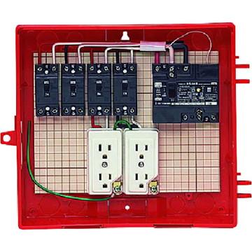 【法人限定】RB-12AO (RB12AO) 未来工業 屋外電力用仮設ボックス 漏電しゃ断器・分岐ブレーカ・コンセント内蔵