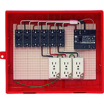 【法人限定】RB-14AO (RB14AO) 未来工業 屋外電力用仮設ボックス 漏電しゃ断器・分岐ブレーカ・コンセント内蔵