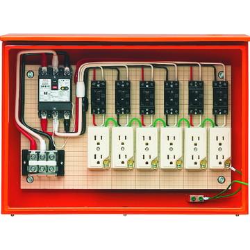 【法人限定】35AS-6C4TB (35AS6C4TB) 未来工業 屋外電力用仮設 キャビネットボックス