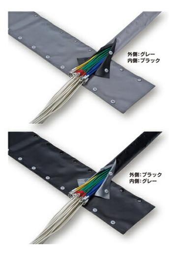 【法人限定】JST-40R (JST40R) JAPPY ホック付チューブ リバーシブルタイプ 25m(1巻)