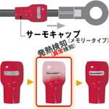 【法人限定】STC-325-赤 10入り (STC325赤 10入り) JAPPY 発熱監視用絶縁端子キャップ サーモキャップSTCメモリータイプ