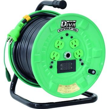 法人限定 \11 000 税込 以上で送料無料 信用 NPDM-EB34 NPDMEB34 日動工業 定価 30m 標準型 デジタルドラム 電圧電流メーター付 漏電保護専用