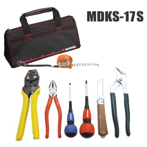 【法人限定】MDKS-17S [ MDKS17S ]【マーベル】標準工具セット(リングスリーブ 圧着小・中・大付)【返品種別B】