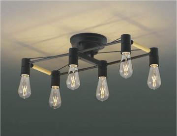 【法人限定】AA49036L【コイズミ照明】LEDシャンデリア LED(電球色)40W×6灯相当:電球2.5W(E26)×6【返品種別B】