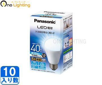 【パナソニック】(10個セット)LDA4D-H/E/W/2 [ LDA4DHEW2 ]LED 一般電球タイプ 下方向タイプE26口金 昼光色相当 40形相当【返品種別B】