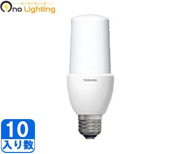 【東芝】(10個セット)LDT10N-G/S[LDT10NGS]T形タイプ 口金E26密閉器具対応可一般白熱電球60W形相当昼白色【返品種別B】
