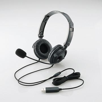法人限定 \11 SALE開催中 000 税込 以上で送料無料 ※お届けまでに2~3ヶ月以上を要します 割り引き HS-HP20UBK HSHP20UBK 折り畳み式 エレコム 両耳オーバーヘッド USBヘッドセットマイクロフォン ブラック 40mmドライバ 1.8m