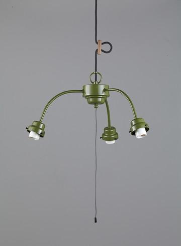 GLF-0271GR [ GLF0271GR ]【後藤照明】3灯用ビス止めアームCP型吊具 (緑塗装)【返品種別B】