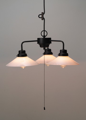 GLF-3228WX [ GLF3228WX ]【後藤照明】乳白P1ロマン・3灯用CP型BK 電球なし【返品種別B】
