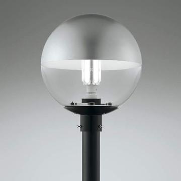 XU91783L【コイズミ照明】LEDガーデンライト灯具:アルミ・黒色塗装グローブ:アクリル・透明上部 グレー塗装色温度:2700K 光源寿命:40,000時間 HF250W相当【返品種別B】