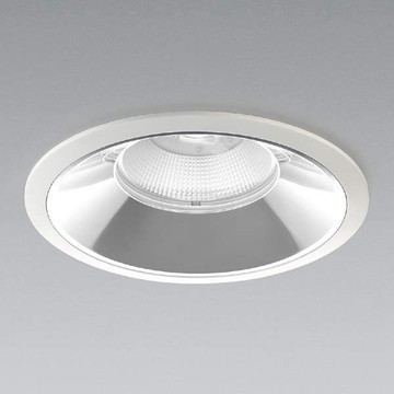 XD91250L【コイズミ照明】LEDダウンライト枠:アルミダイカスト・ファインホワイト塗装パネル:ガラス・透明コーン:アルミ・銀色鏡面【返品種別B】